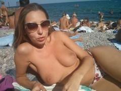 Nackte strandgirls